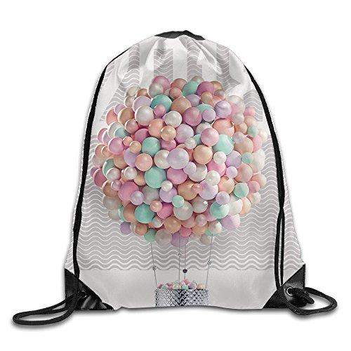 Cute Drawstring Backpack Happy New Year Eve Ballon 2018 Art Design Print Drawstring Backpack Rucksack Shoulder Bags Gym Bag