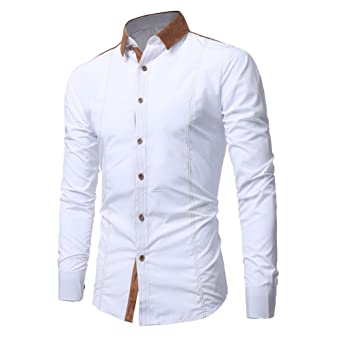 f59c99b99efd3 OrchidAmor Men Shirt Fashion Solid Color Male Casual Long Sleeve Shirt Mens  Tshirt Pack Pack of Tshirts for Men at Amazon Men s Clothing store