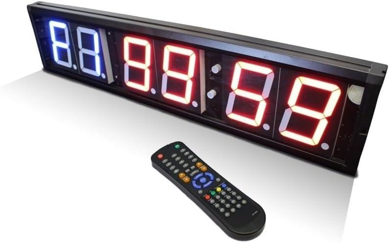 Interval Timer digitale a muro per palestre e centri sportivi, scuole, 6 cifre)