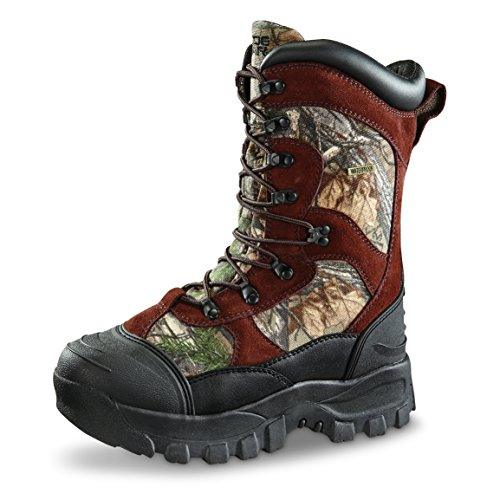 Men's Guide Gear 2400 gram Thinsulate& Ultra Insulation Monolithic Waterproof Boots Mossy Oak, MOSSY OAK, 11