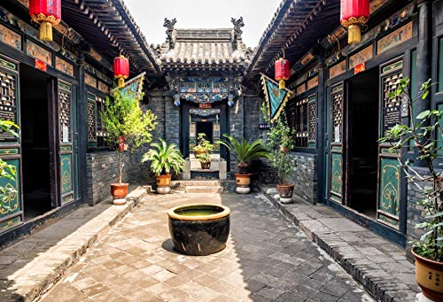 Yeele 5x3ft Chinese Style Photography Backdrop Pingyao Ancient City Temple Town Heritage Background for Photo Booth Shoot Ancient City Trip Kids Adult Family Portrait Shoot Vinyl Studio Props ()