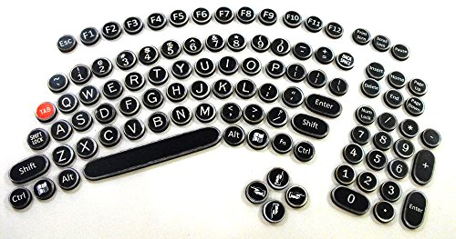 Steampunk Keyboard Set - Wood Typewriter Keys Replicating Modern Keyboard