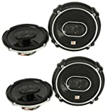 4) New JBL GTO638 6.5'' - 6.75'' 360W 3 Way Car Audio Coaxial Speakers Stereo