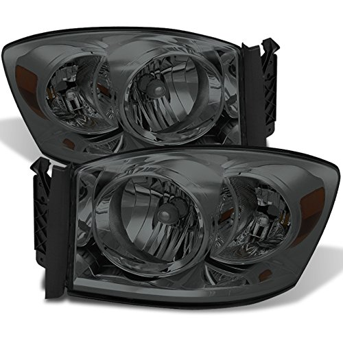 For Black 06-08 Ram 1500 06-09 Ram 2500 3500 Pickup Truck Headlights Front Lamps Direct Replacement