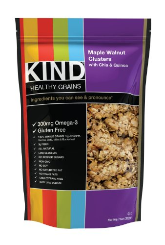 KIND Healthy Grains Clusters, Maple Walnut with Chia and Quinoa, 11-Ounce Bags (Pack of 3)