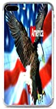 I Love America Quote USA Flag with Eagle Design Print Image iPhone 7 Plus Vinyl Decal Sticker Skin