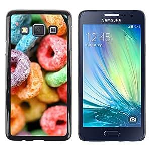 Paccase / Dura PC Caso Funda Carcasa de Protección para - Candy Sugar Sweets Colorful Neon Rubber - Samsung Galaxy A3 SM-A300