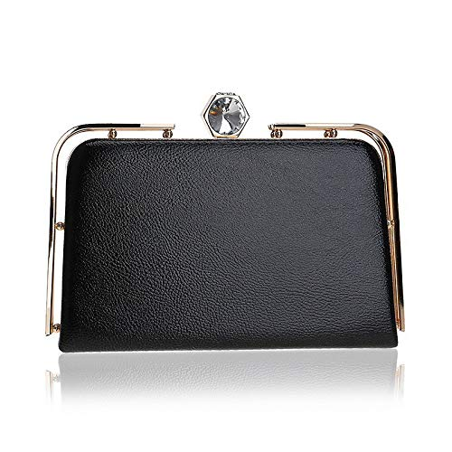 Metallo Borse Borsetta Black bottoni Spalla Jsxl Pochette Portafoglio Borsa Oro Sera A Pu Sacchetta In Mano Bottoni cristalli Donna nero Da Argento 48wndn15q