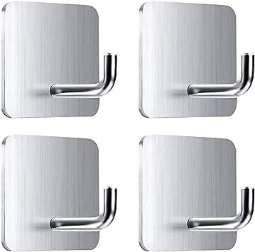 Perchero de pared de acero inoxidable multifuncional ba/ño para colgar en la pared toallero o sombrero cocina 3 Hooks para el hogar