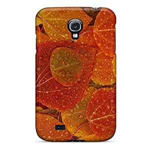Premium Protection Autumn Rainy Forest Leaves Case Cover For Galaxy S4- Retail Packaging