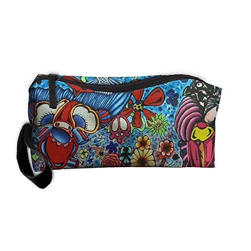Girl's Women Submarine World Multifunction Handle Toiletry Bag Portable Buggy Bag Travel Small Makeup Clutch Bag Cosmetic Bags Brush Pouch Organizer - Travel World Wayfarers