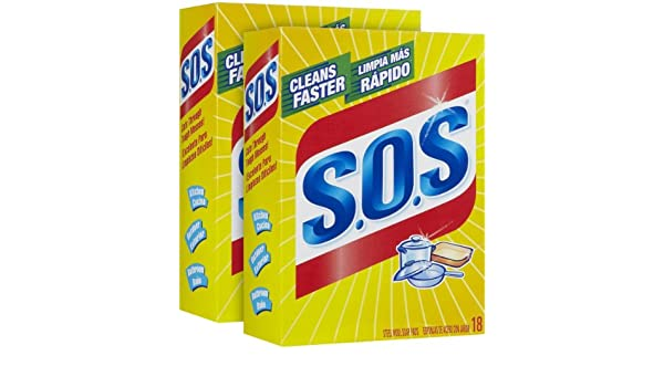 Amazon.com: S.O.S Steel Wool Soap Pads - 18 ct - 2 pk: Health & Personal Care