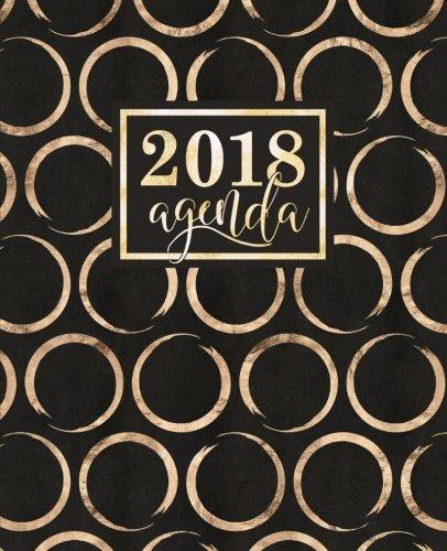 Agenda: 2018 Agenda semana vista español : brillantes círculos dorados sobre fondo negro : 190 x 235 mm, 160 g/m² (Calendarios, agendas y organizadores personales) (Volume 11) (Spanish Edition)