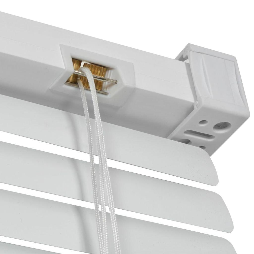 vidaXL Store Aluminium Store /à Enrouleur Pare-Vue occultant 60 x 130 cm Blanc