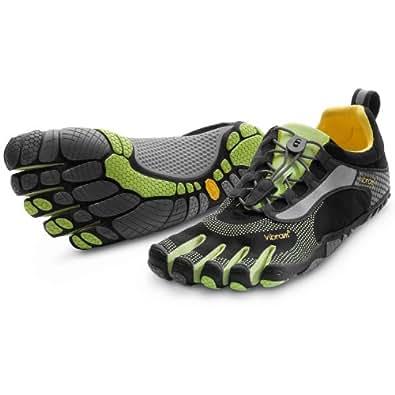 Bikila LS Shoe Black/Green - Men's by Vibram Fivefingers M3581, Size 42 M EU