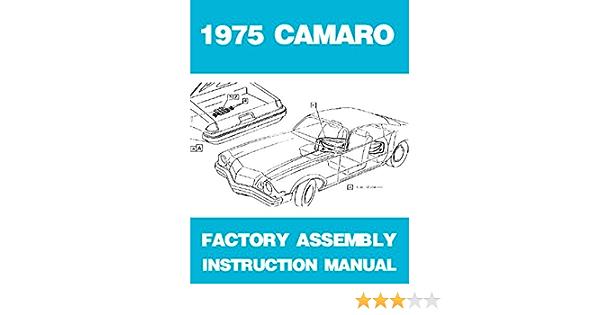1975 Camaro Assembly Manual 75
