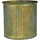 "CYS® Corrugated Zinc Metal Galvanized Plant Pot Cylinder Vases, H-3"" Pots, Planters - Pack of 6 pcs"