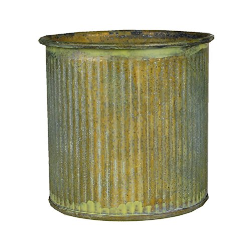 cysr-corrugated-zinc-metal-galvanized-plant-pot-cylinder-vases-h-3-pots-planters-pack-of-6-pcs