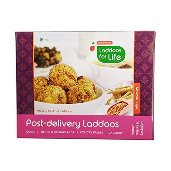 Paaramparik Post Delivery Gond Laddoos | Dry Fruits | Jaggery | Methi | Ghee (Pack of 2)