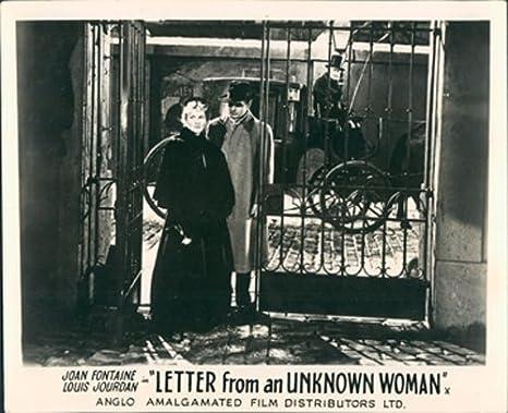Carta de una desconocida mujer Joan Fontaine vestíbulo ...