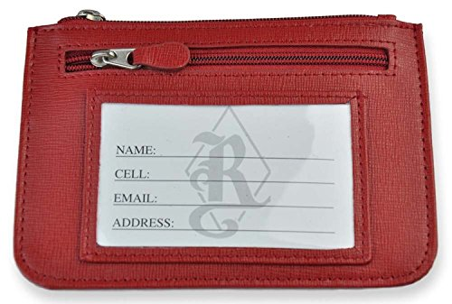 Royce Leather RFID Blocking 'Penelope' Slim City Wallet (One Size, Red)