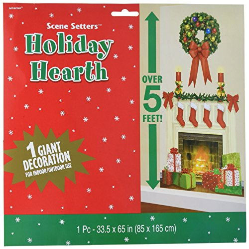 amscan Hearth Scene Setters Add-Ons Christmas Accessory | Plastic -