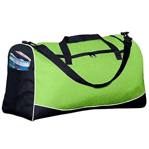- Augusta Sportswear Large Tri-color Sport Bag OS Lime/Black/White