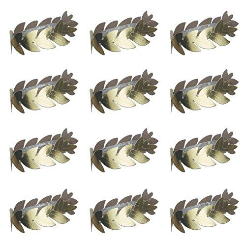 (Beistle S66648AZ12 Foil Roman Laurel Wreaths 12 Piece, OSFM, Gold)