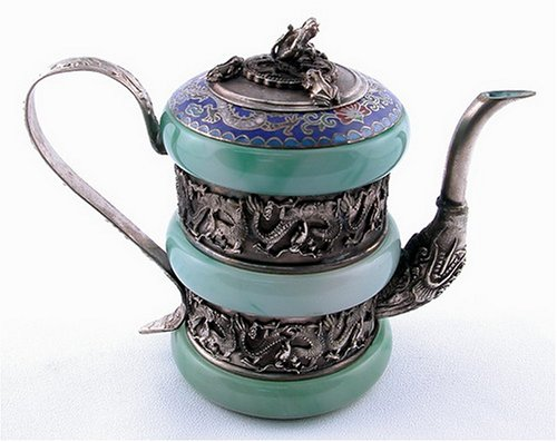 Green Jade Decorative Teapot