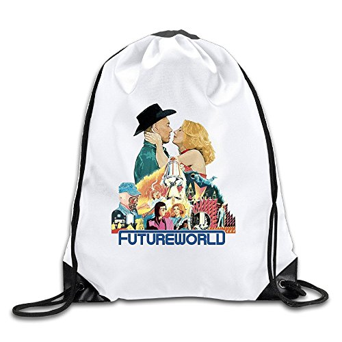 Futureworld Lightweight Drawstring Cinch Bag Backpack White Size One Size
