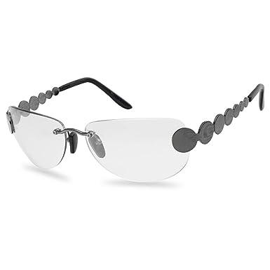 Amazon.com: Gafas de sol transparentes de estilo retro sin ...