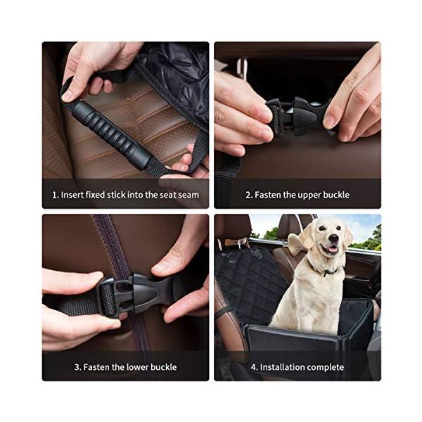 5193ZMSWY%2BL Yikaich Hundesitz Auto Hunde Autositz Rückbank & Vordersitz Transportbox Wasserdicht, für Kleine Mittlere große Hunde