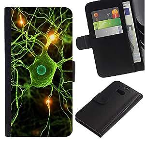 All Phone Most Case / Oferta Especial Cáscara Funda de cuero Monedero Cubierta de proteccion Caso / Wallet Case for HTC One M8 // Neural Brain Science Biology