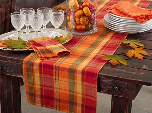 Harvest Plaid Table Runner