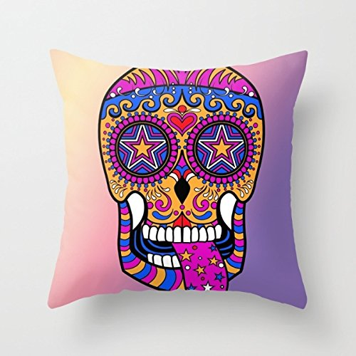 Alphadecor Pillow Cases Of Skull 18 X 18 Inches / 45 By 45 Cm,best Fit For Shop,family,monther,deck Chair,her,teens Girls Two Sides (Mini Houndstooth Rug)