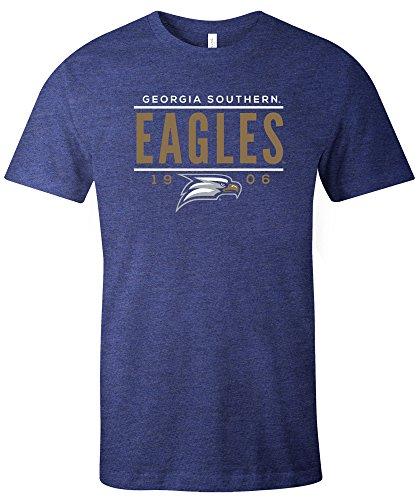 NCAA Georgia Southern Eagles Tradition Short Sleeve Tri-Blend T-Shirt, Navy,Navy -