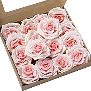 Ling's moment Artificial Flowers 16pcs Sweet Avalanche Roses for DIY Wedding Bouquets Centerpieces Arrangements Party Baby Shower Home Decorations 4