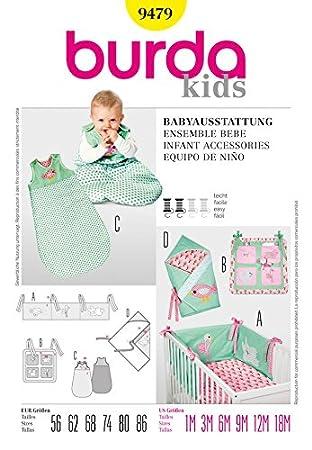 Burda Schnittmuster 9479 Kinder – Infant Zubehör Größen: 1 m-18 m ...