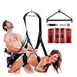 Anosmsh 360 Spinning Swing Adult Toys For Couples Luxury 800 LBS Weight Capacity Indoor Ceiling Sling Swing Fantasy Swivel Swing, Lightweight & Portable - Frame, Spring And Hooks Included (Red)