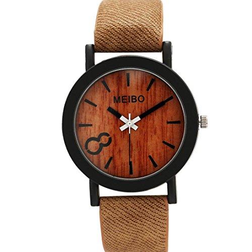 Perman Neutral Simple Fashion Leather Quartz Wrist Watch   Coffee