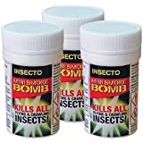 3 x Insecto Smoke Bomb Bed Bug Cockroach Killer Fogger House Room Fumers