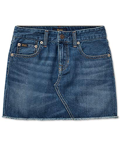 Ralph Lauren Polo Girls Denim Cotton Skirt 4 4T Blue