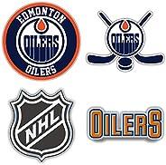 "Oilers Hockey - Edmonton Set of 4 Car Bumper Stickers Decals 5"" Longer"