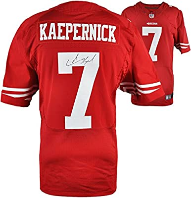 Colin Kaepernick San Francisco 49ers Autographed Nike Red Authentic Jersey - Fanatics Authentic Certified