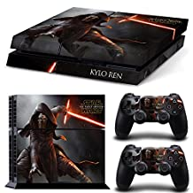 Ps4 Playstation 4 Console Skin Decal Sticker Star Wars Kylo Ren + 2 Controller Skins Set