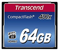 Transcend 64gb Compact Flash Memory Card 400x (Ts64gcf400)