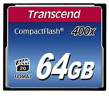 Transcend 64gb Compact Flash Memory Card 400x (Ts64gcf400) 0