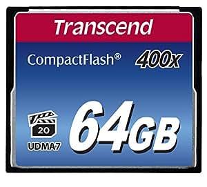 Transcend 64GB Compact Flash Memory Card 400x (TS64GCF400)