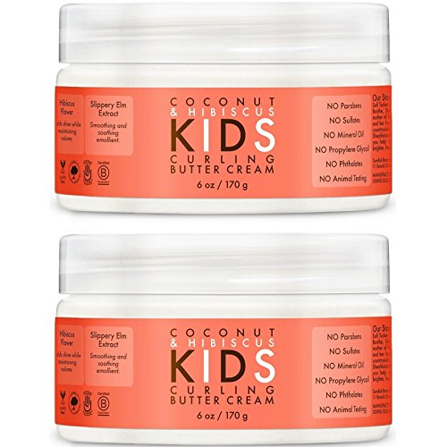 Shea Moisture Coconut & Hibiscus Kids Curling Butter Cream, 6 Ounce, 2Pack