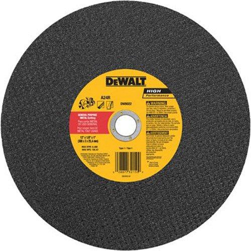 B00004YMCU DEWALT Cutting Wheel For Metal, A24N Abrasive, 12-Inch x 1/8-Inch x 1-Inch (DW8022) 5193b4JuGvL